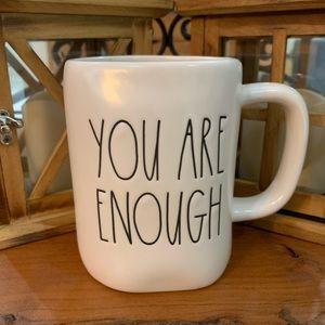 Rae Dunn You Are Enough Large Letter Mug